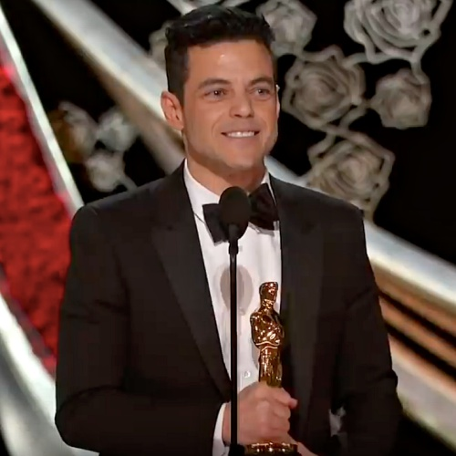 Rami Malek Treated By Paramedics After Falling Off Oscars Stage