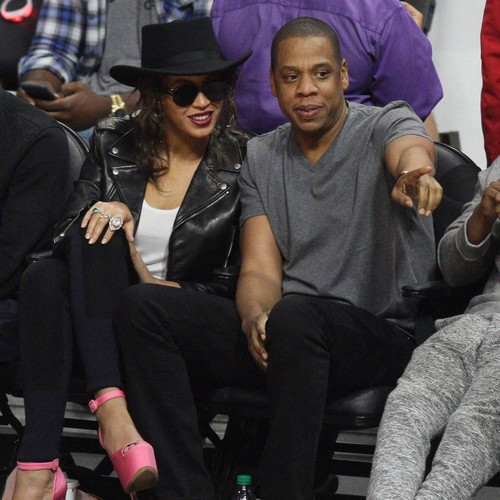 Beyonce and JAY-Z's son has mean stare like his father