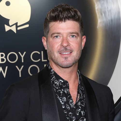 Robin Thicke Visits Father's Grave With His Children