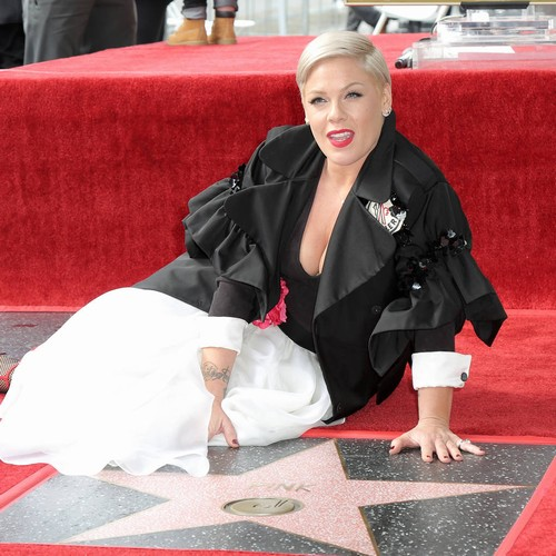 Pink Uncomfortable With High Praise And Fan Support At Walk Of Fame Ceremony