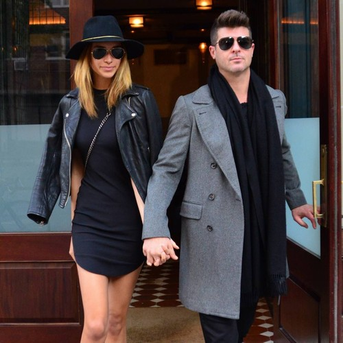 Robin Thicke's Fiancee Laughs Off Khloe Kardashian Romance Gossip