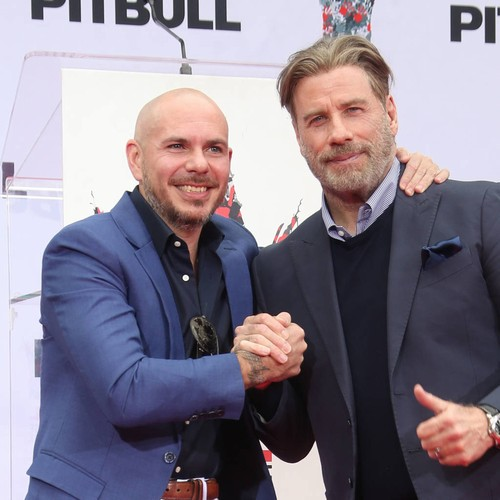John Travolta Asked Pitbull For Permission To Go Bald