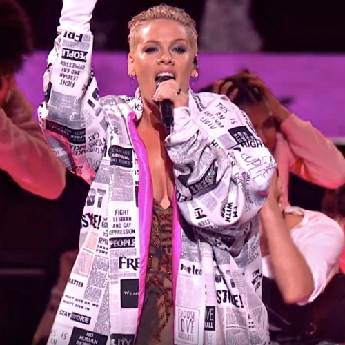 P!nk Wins The Brit Awards 2019 Outstanding Contribution To Music